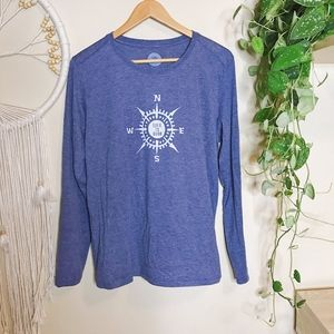 Life is Good | Blue Compass Traveling Cool Tee